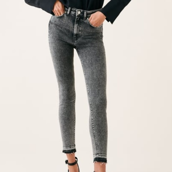 5de3c43d Zara Woman high waist snow black Jeans